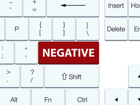 Negative isolated on brown keyboard button abstract illustration