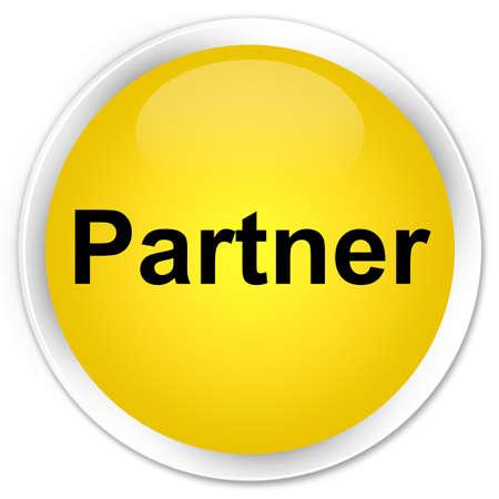Partner isolated on premium yellow round button abstract illustration