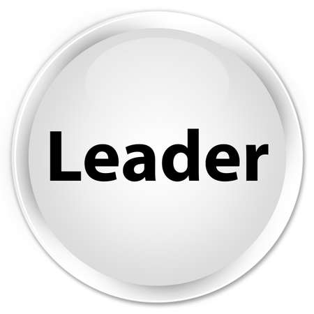 Leader isolated on premium white round button abstract illustration Фото со стока