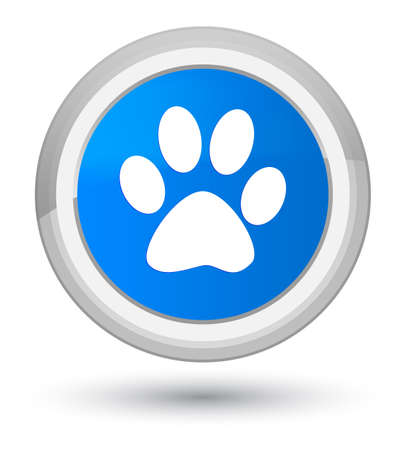 Animal footprint icon isolated on prime cyan blue round button abstract illustration Stock Photo