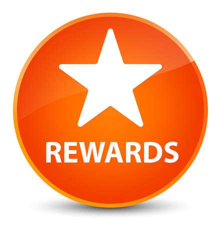 Recompensas (icono de la estrella) aisladas en la elegante ilustración abstracta del botón redondo naranja