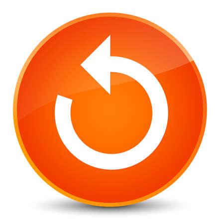 Refresh arrow icon isolated on elegant orange round button abstract illustration