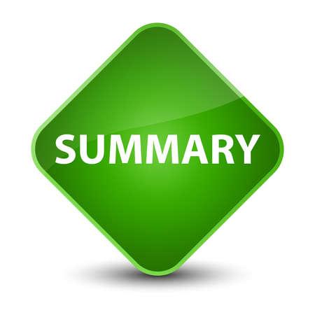 Summary isolated on elegant green diamond button abstract illustration 版權商用圖片 - 89683226