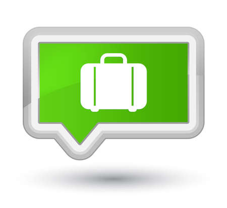 prime: Bag icon isolated on prime soft green banner button abstract illustration