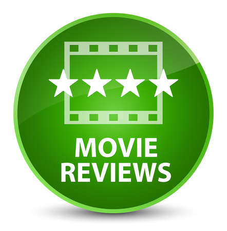 Movie reviews isolated on elegant green round button abstract illustration