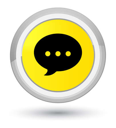 Conversation icon isolated on prime yellow round button abstract illustration Фото со стока