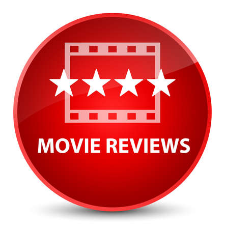 Movie reviews isolated on elegant red round button abstract illustration