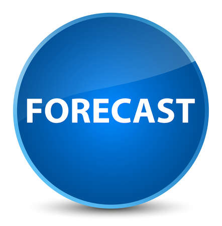 Forecast isolated on elegant blue round button abstract illustration