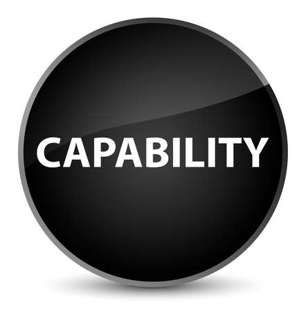Capability isolated on elegant black round button abstract illustration