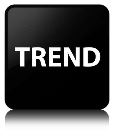 Trend isolated on black square button reflected abstract illustration Stok Fotoğraf