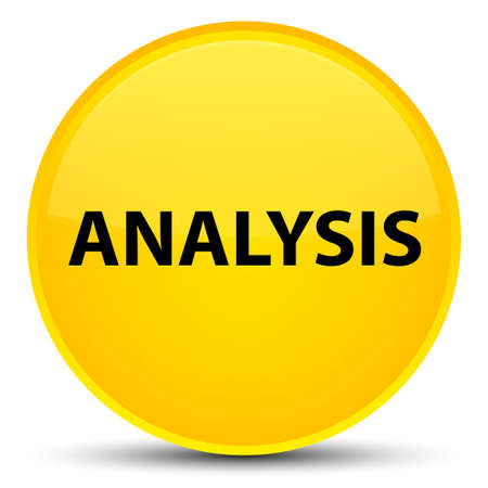 Analysis isolated on special yellow round button abstract illustration