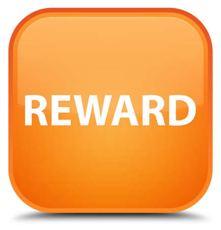 Reward isolated on special orange square button abstract illustration