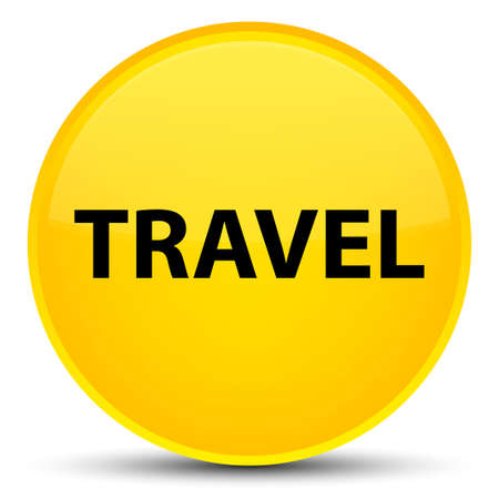 Travel isolated on special yellow round button abstract illustration Stock Photo