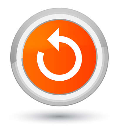Refresh arrow icon isolated on prime orange round button abstract illustration Stock Photo