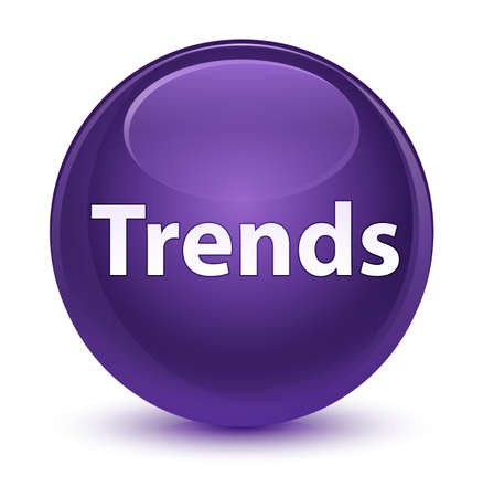 Trends isolated on glassy purple round button abstract illustration