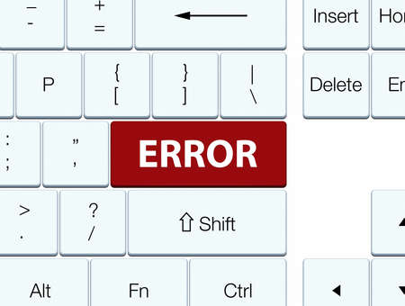 Error isolated on brown keyboard button abstract illustration Stock Photo