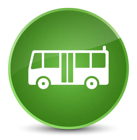 Bus icon isolated on elegant soft green round button abstract illustration