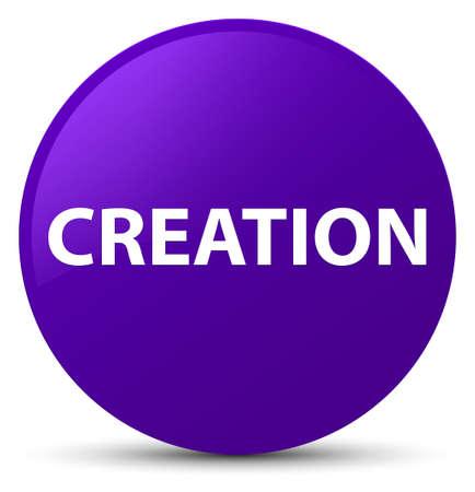 Creation isolated on purple round button abstract illustration