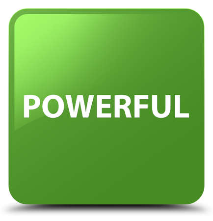 Powerful isolated on soft green square button abstract illustration