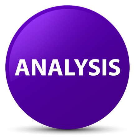 Analysis isolated on purple round button abstract illustration
