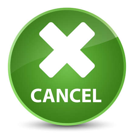 Cancel isolated on elegant soft green round button abstract illustration