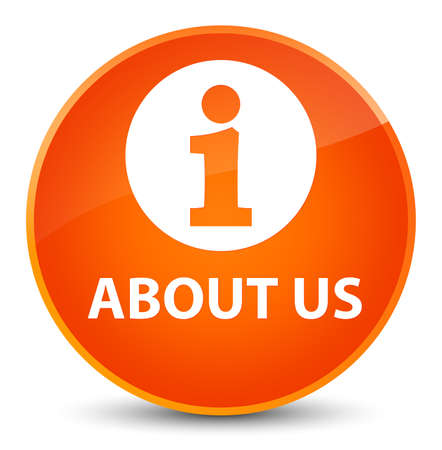 About us isolated on elegant orange round button abstract illustration