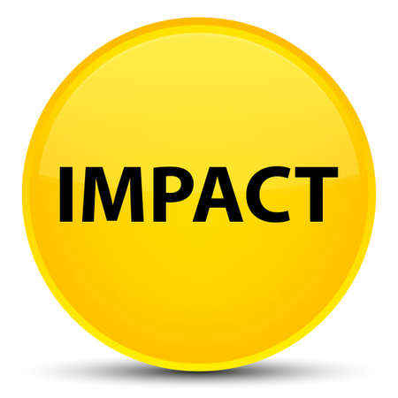 Impact isolated on special yellow round button abstract illustration Stock Photo