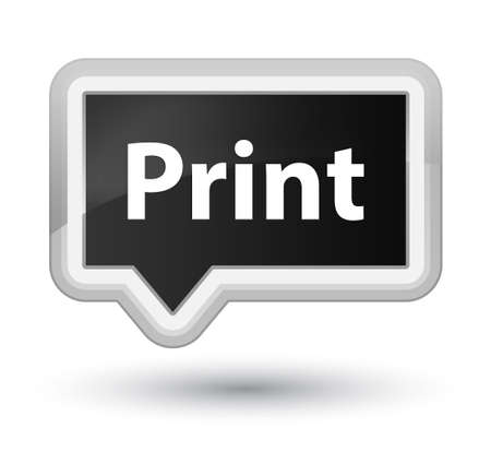 Print isolated on prime black banner button abstract illustration Stock Photo