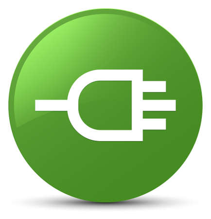 connectors: Connect icon isolated on soft green round button abstract illustration