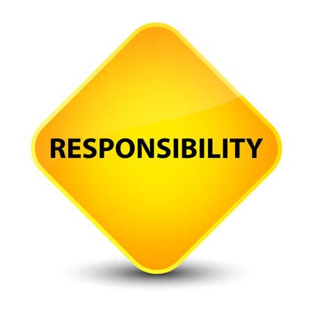 Responsibility isolated on elegant yellow diamond button abstract illustration