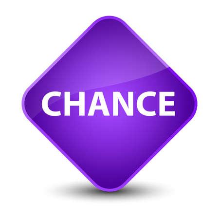 Chance isolated on elegant purple diamond button abstract illustration
