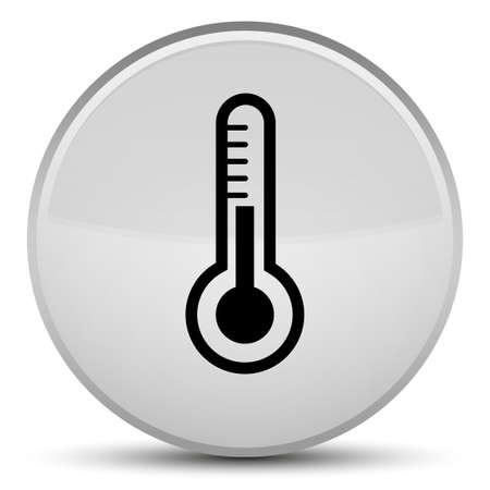 medical instruments: Thermometer icon isolated on special white round button abstract illustration