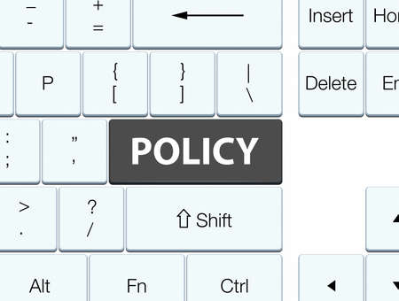 Policy isolated on black keyboard button abstract illustration