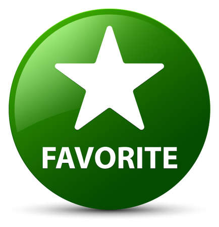 Favorite (star icon) isolated on green round button abstract illustration