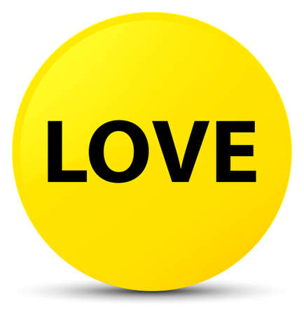 Love isolated on yellow round button abstract illustration