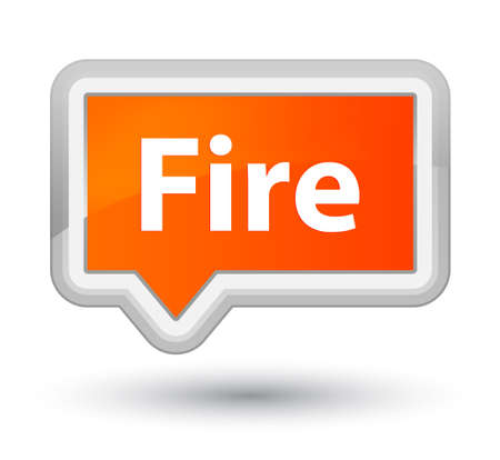 Fire isolated on prime orange banner button abstract illustration