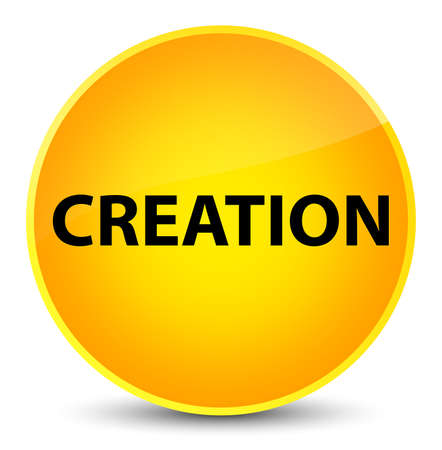 Creation isolated on elegant yellow round button abstract illustration