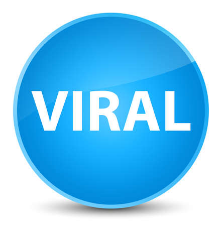 Viral isolated on elegant cyan blue round button abstract illustration