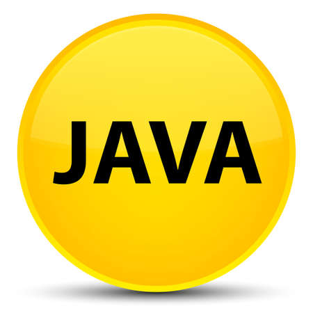 Java isolated on special yellow round button abstract illustration