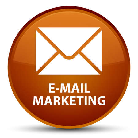 E-mail marketing isolated on special brown round button abstract illustration