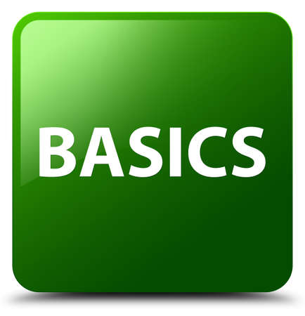 Basics isolated on green square button abstract illustration Фото со стока