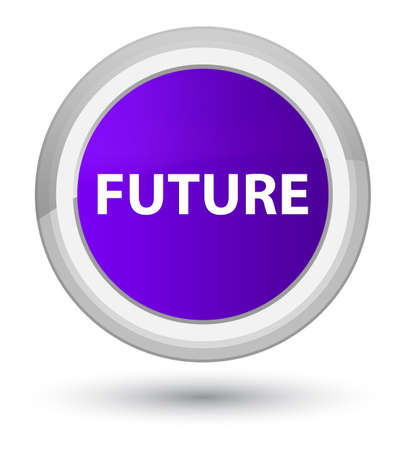 Future isolated on prime purple round button abstract illustration Stock Photo