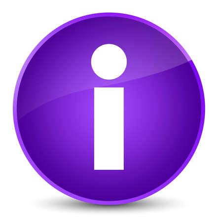 Info icon isolated on elegant purple round button abstract illustration