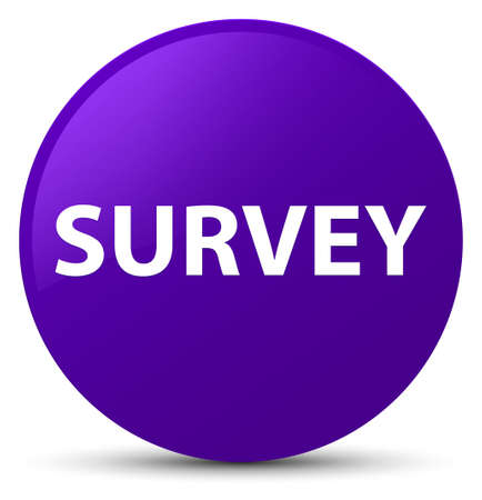 Survey isolated on purple round button abstract illustration
