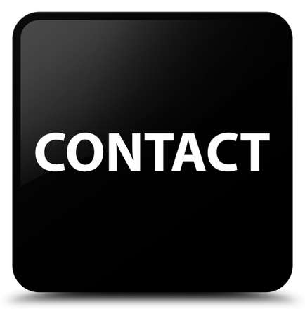Contact isolated on black square button abstract illustration Stock Photo
