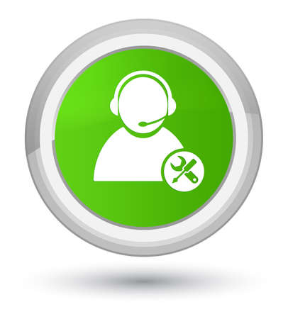 Tech support icon isolated on prime soft green round button abstract illustration