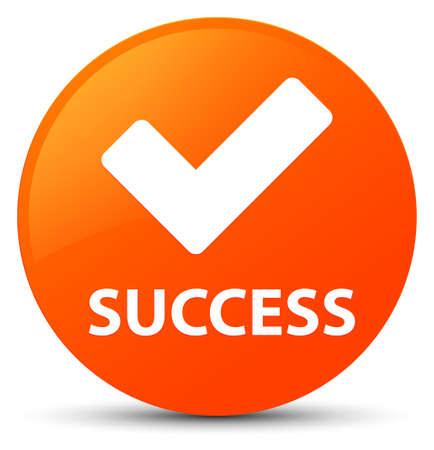 Success (validate icon) isolated on orange round button abstract illustration Stock Photo