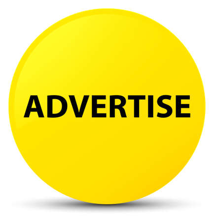 Advertise isolated on yellow round button abstract illustration