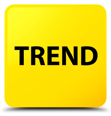 Trend isolated on yellow square button abstract illustration Stock Photo