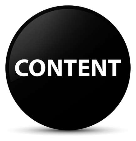 Content isolated on black round button abstract illustration